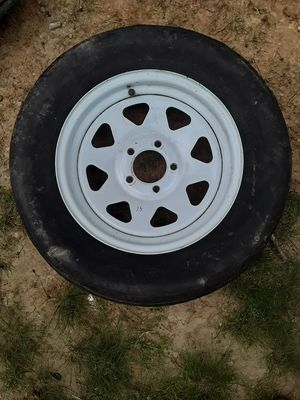 """$35 15"""" Trailer Rim and the tire no good 205 /75/ 15 Ford pattern for Sale in East Point, GA"""