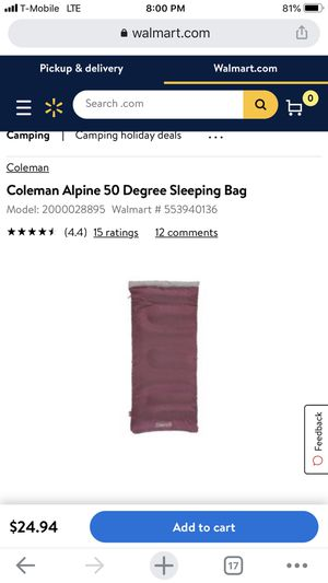 Coleman sleeping bag for Sale in Houston, TX