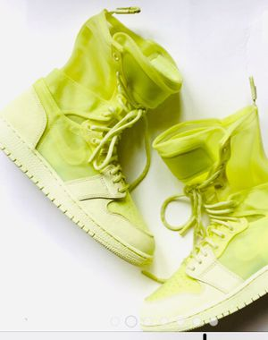 Nike Air Jordan 1 Explorer XX Sneakers, Color Lime Green. Exclusive Jordan's. Leather for Sale in New York, NY