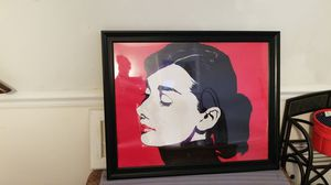 Audrey Hepburn poster with frame for Sale in Defiance, MO