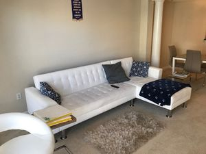 White leather sectional couch for sale for Sale in Dunwoody, GA
