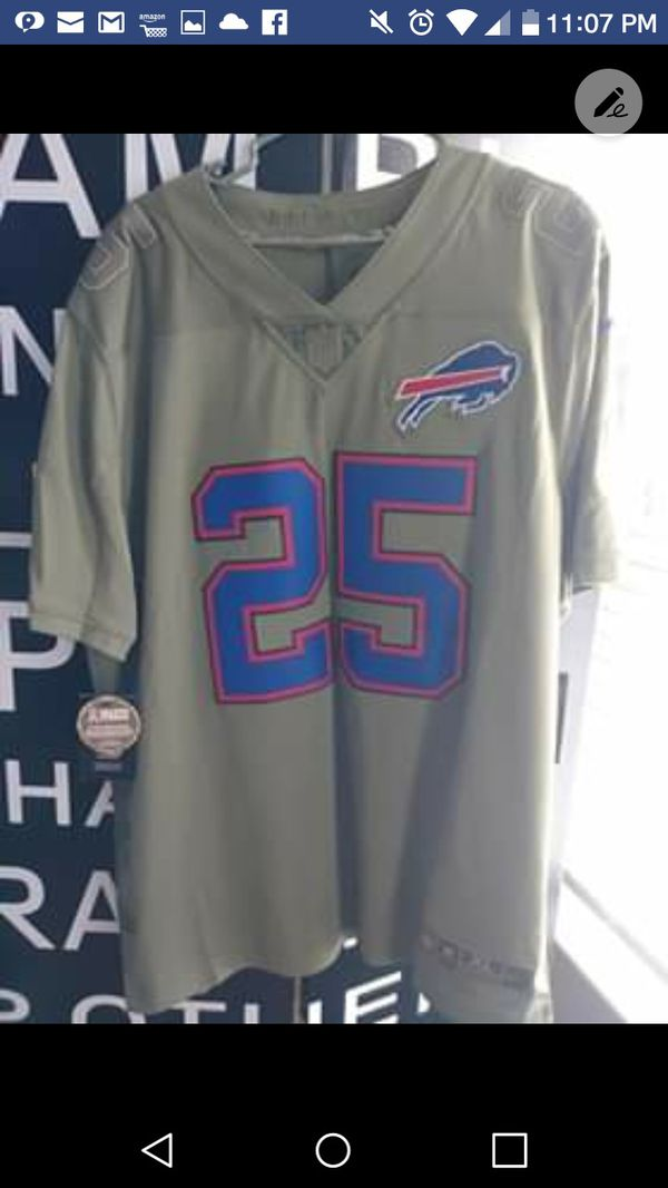 "Rare ""Salute to Service"" #25 Buffalo Bills Jersey"