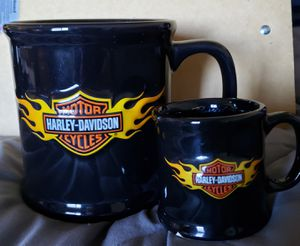 Harley Flaming Bar & Shield mug & matching Mug shot for Sale in Glendale Heights, IL