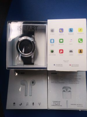 Smartwatch and Bluetooth headphones for Sale in Philadelphia, PA
