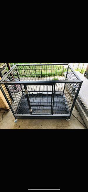 Heavy duty Dog cage with wheels $80 each for Sale in San Bernardino, CA
