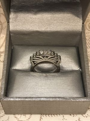 Stamped 925 Sterling Silver Front Coronal Engagement/ Promise Ring for Sale in Sacramento, CA
