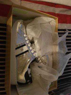 Michael Kors navy blue and silver sneakers brand new for Sale in Philadelphia, PA