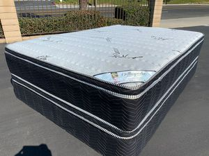 Bamboo Double Sided Pillow Top Mattress and Boxspring! for Sale in Rosemead, CA