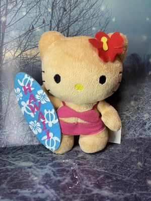 "New Ultra Rare Sanrio Hello kitty suntan surfboard 6"" plush toy doll. for Sale in Paramount, CA"