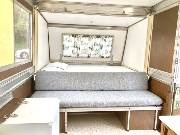 Vintage Apache pop-up camper trailer