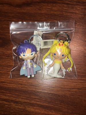 Sailor moon and tuxedo mask keychain for Sale in Brea, CA
