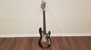 Bass electric guitar - 4 string with carrying case for Sale in Glenview, IL