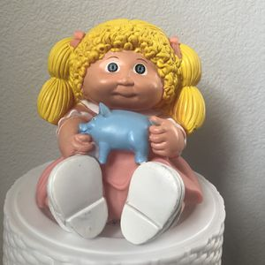 vintage 1983 Cabbage Patch Doll Piggy Bank Blonde Hair Appalachian Artworks for Sale in North Las Vegas, NV