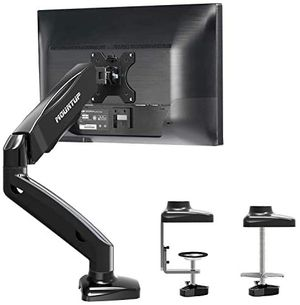 New MOUNTUP Single Monitor Desk Mount - Adjustable Gas Spring Monitor Arm, VESA Mount with C Clamp, Grommet Mounting Base, Computer Monitor Stand for for Sale in Chino Hills, CA