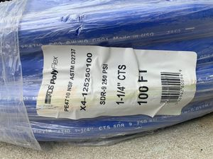 Advanced Drainage Systems 1-1/4 in. x 100 ft. CTS 250 psi NSF Poly Pipe in Blue for Sale in Apex, NC