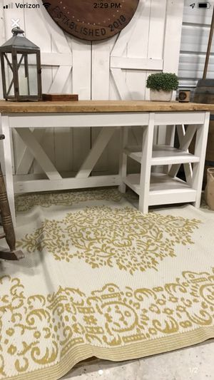 Farmhouse desk with 2 shelves for Sale in Durham, NC
