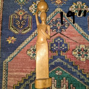 Hand Carved Wooden Lady Figure for Sale in San Diego, CA