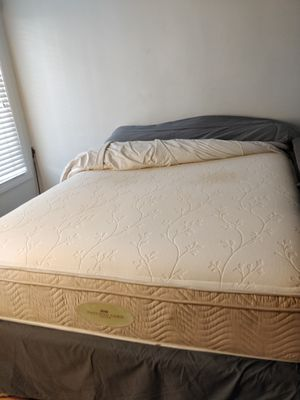 Queen bed box spring and frame for Sale in Los Angeles, CA
