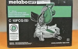 Brand New Metabo HPT 10 inch 15-Amp Motor Single Bevel Compound Miter Saw Tool for Sale in Fort Drum, NY