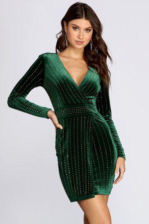 bling velvet long sleeve dress XL size $50 for Sale in Fort Worth, TX