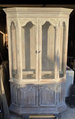 Nice armoire with shelves and lights built in it for Sale in Costa Mesa, CA