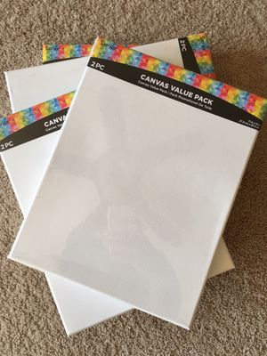 4-2pc Canvas Value Packs 11inX14in for Sale in Raleigh, NC