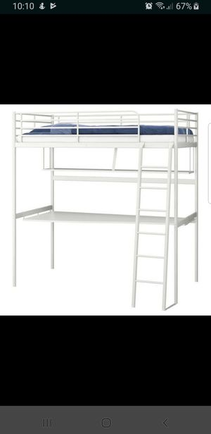IKEA Twin Loft Bed with Desk for Sale in Inglewood, CA