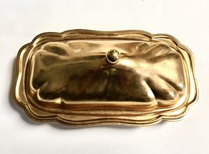 24k Gold Plated Butter Dish for Sale in Deltona, FL