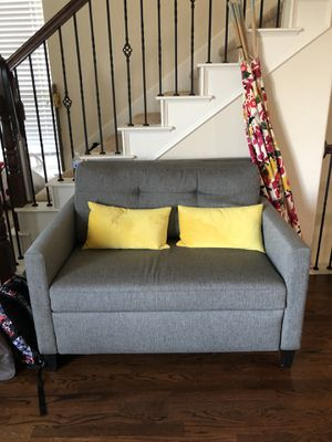Crate and Barrel sleeper sofa memory foam for Sale in Irving, TX
