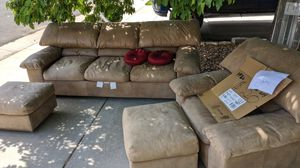 Sofa chair 2 ottoman free for Sale in Henderson, CO