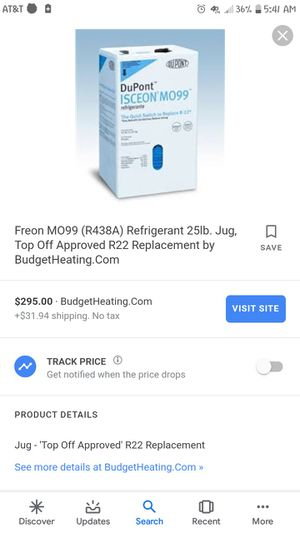 Freon M099 Refrigerant (R-438A) 25 Lbs for Sale in Pelzer, SC