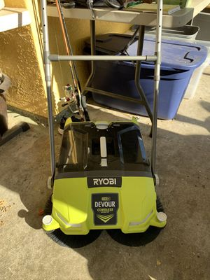 Ryobi power sweeper brand new condition open box for Sale in Plant City, FL