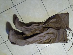 Tan high heel boots new for Sale in Brainerd, MN