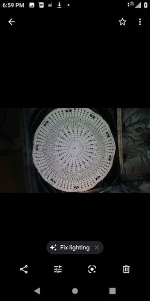 """Antique 10 """" round doylie laced lamp balnket for Sale in Long Beach, CA"""