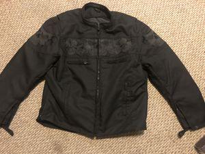 Black Skulls Motorcycle Jacket XXL for Sale in Springfield, PA