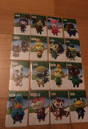 Animal crossing Amiibo card set switch Wii U 3DS Nintendo for Sale in Skokie, IL