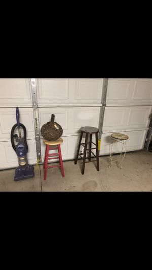 Vacuum two bar stools brand new decor item for Sale in Farmersville, CA