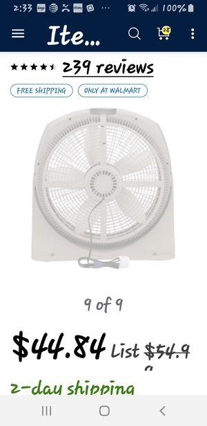 """20"""" digital wind fan for Sale in McGehee, AR"""