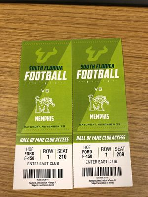 USF Game, Hall of Fame Club Access for Sale in Tampa, FL