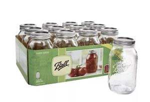 BALL 32oz Canning Mason Pickle Jar - 12 Pack REGULAR MOUTH In Hand Fast Shipping for Sale in Acton, MA