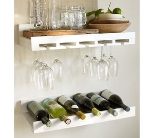 New White Pottery barn wine shelf for Sale in San Francisco, CA
