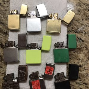 9 Zippo -Used -original lighters each was over $35 for Sale in Moreno Valley, CA