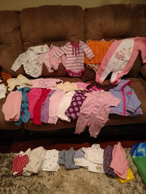 Baby girl clothes newborn through 6 months for Sale in Mount Laurel Township, NJ