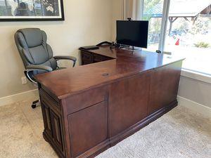 Solid Wood L-Shape Desk for Sale in Penryn, CA