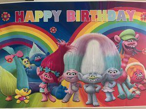 BIRTHDAY PARTY SUPPLIES RAINBOW TROLLS for Sale in Davenport, FL