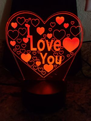 I love you ❤️💕 3 d lamp for Sale in Las Vegas, NV
