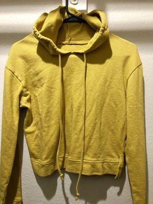 Crop Top mustard yellow hoodie for Sale in Phoenix, AZ