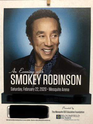 An Evening With Smokey Robinson tickets for Sale in Mesquite, TX
