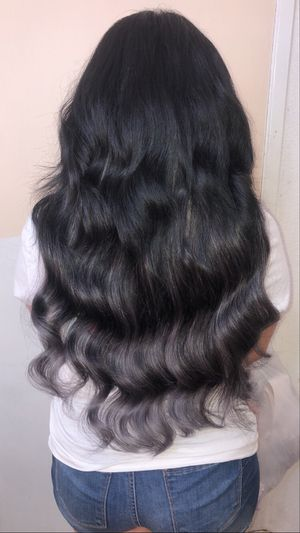 """Black and silver 22"""" weft for Sale in Fontana, CA"""