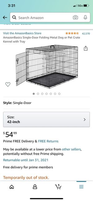 "42"" Collapsable Dog Crate NEW for Sale in Westwood, MA"